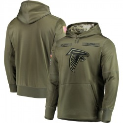 Nike Atlanta Falcons Olive 2018 Salute to Service Sideline Therma Performance Pullover Hoodie - Men's