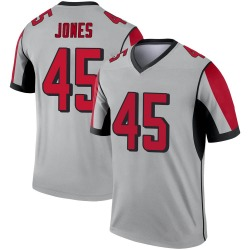 Nike Deion Jones Atlanta Falcons Legend Inverted Silver Jersey - Youth