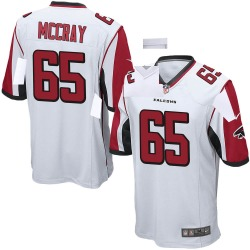 Nike Justin McCray Atlanta Falcons Game White Jersey - Youth
