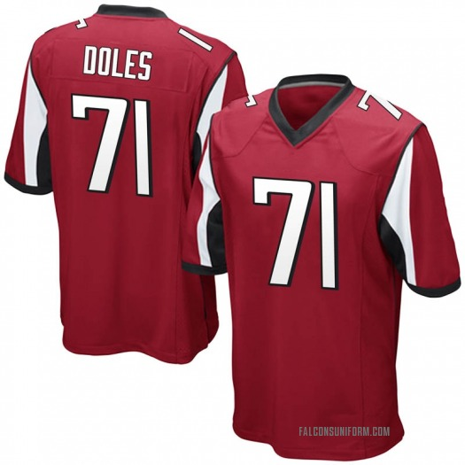 Nike Tommy Doles Atlanta Falcons Game Red Team Color Jersey - Youth