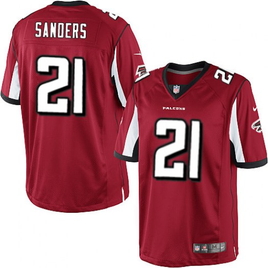 Nike Deion Sanders Atlanta Falcons Limited Red Team Color Jersey - Men's